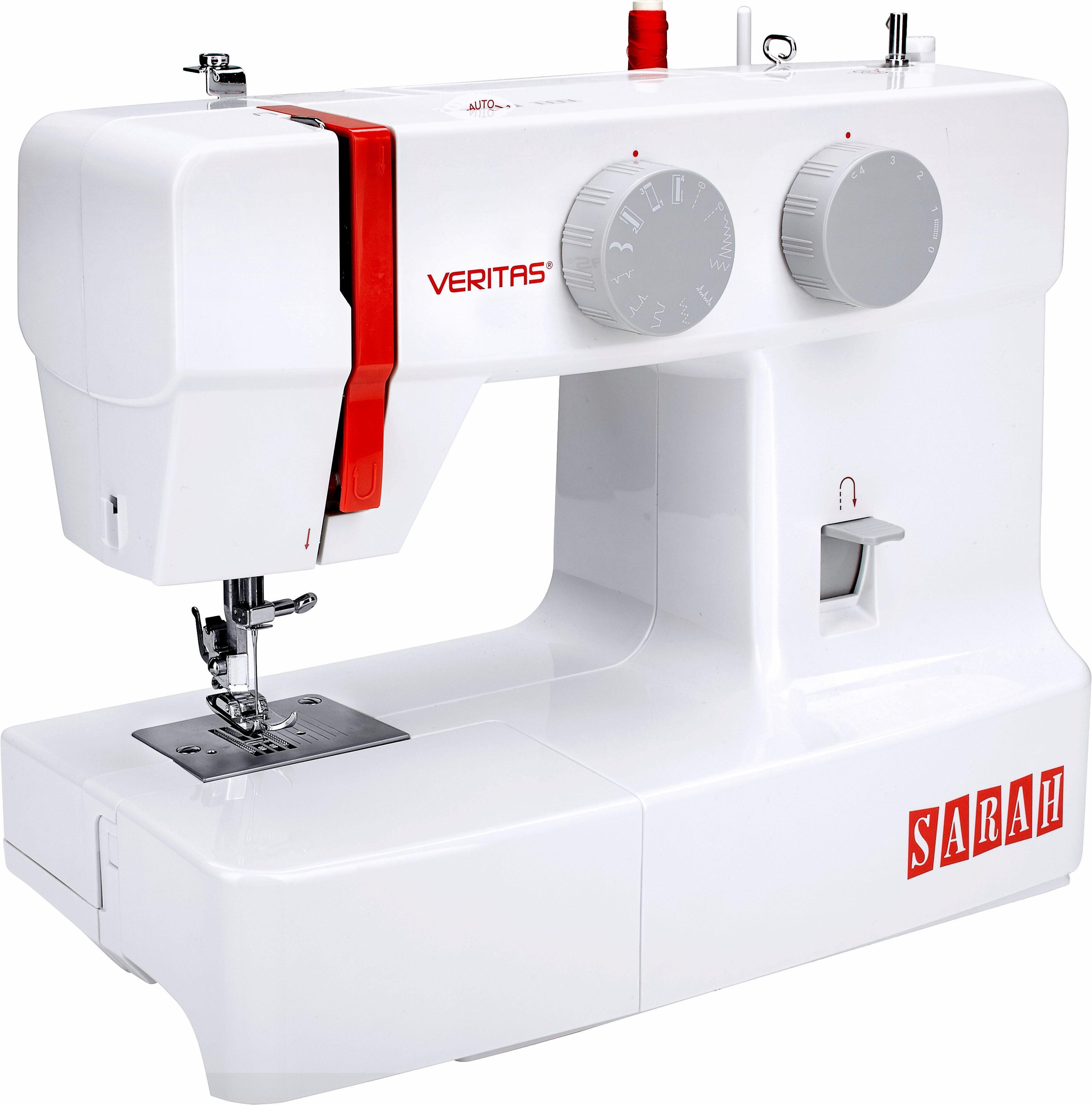 Veritas Nähmaschine Sarah, 13 Nähprogramme, 4-Stufen-Knopflochautomatik
