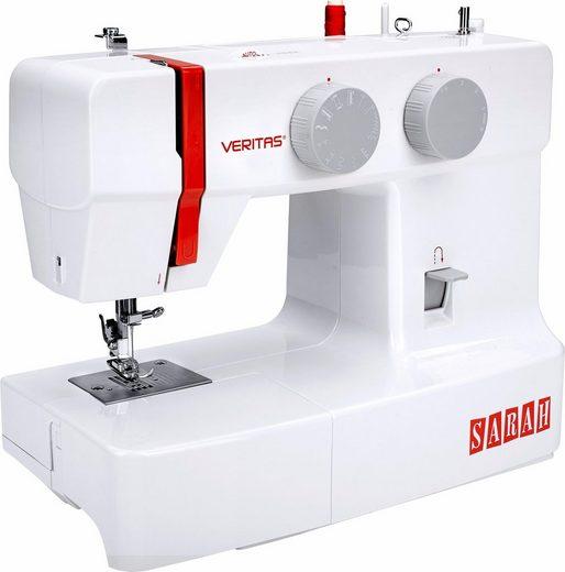Veritas Nähmaschine Sarah, 13 Programme, 13 Nähprogramme, 4-Stufen-Knopflochautomatik
