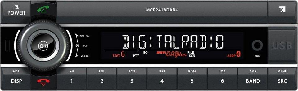 Axion Autoradio »1DIN 24V Truckradio MCR 2418 DAB+« in Schwarz