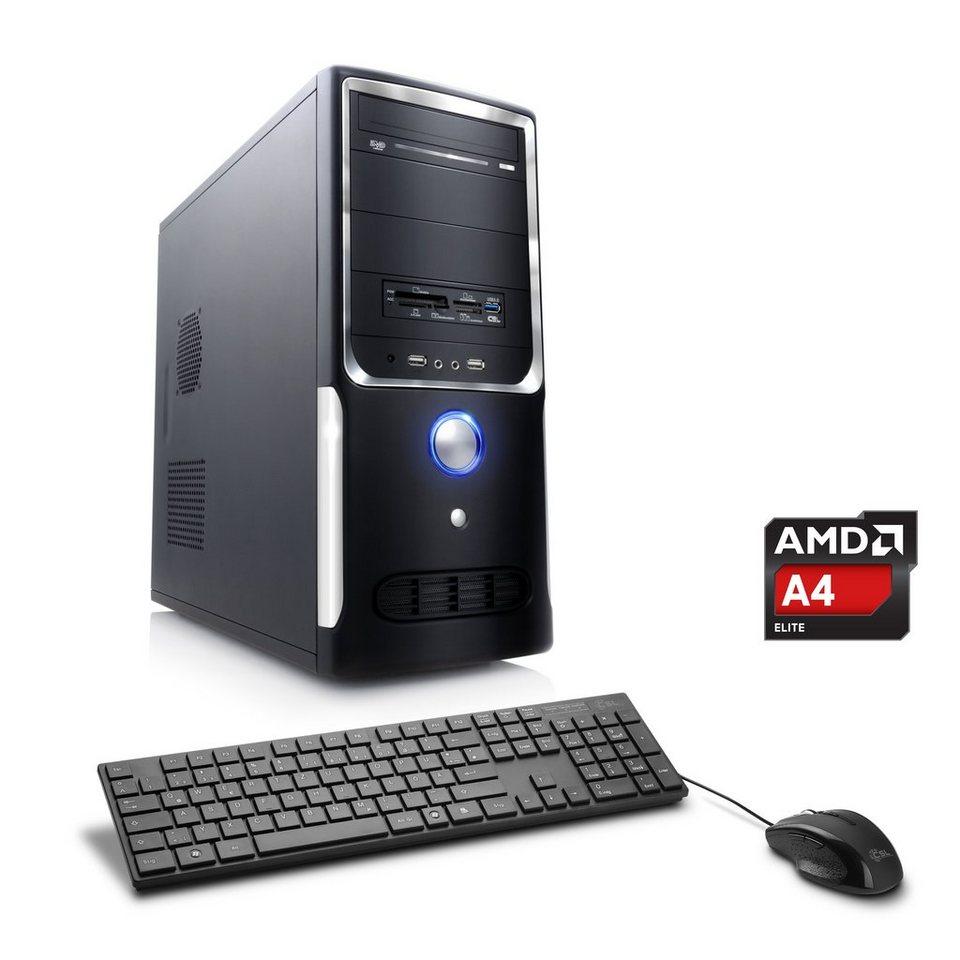 CSL Office PC | AMD A4-5300 | Radeon HD 7480D | 8 GB RAM | WLAN »Sprint T2823 Windows 10 Pro« in schwarz
