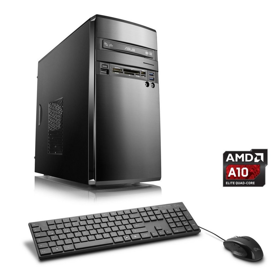 CSL Multimedia PC   AMD A10-7850K   AMD Radeon R7   16 GB RAM   SSD »Sprint T4693 Windows 10 Home« in schwarz