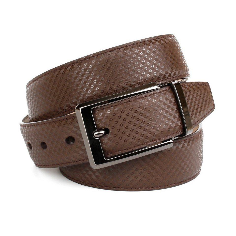 Anthoni Crown Ledergürtel für Männer mit eigenem Stil in Braun