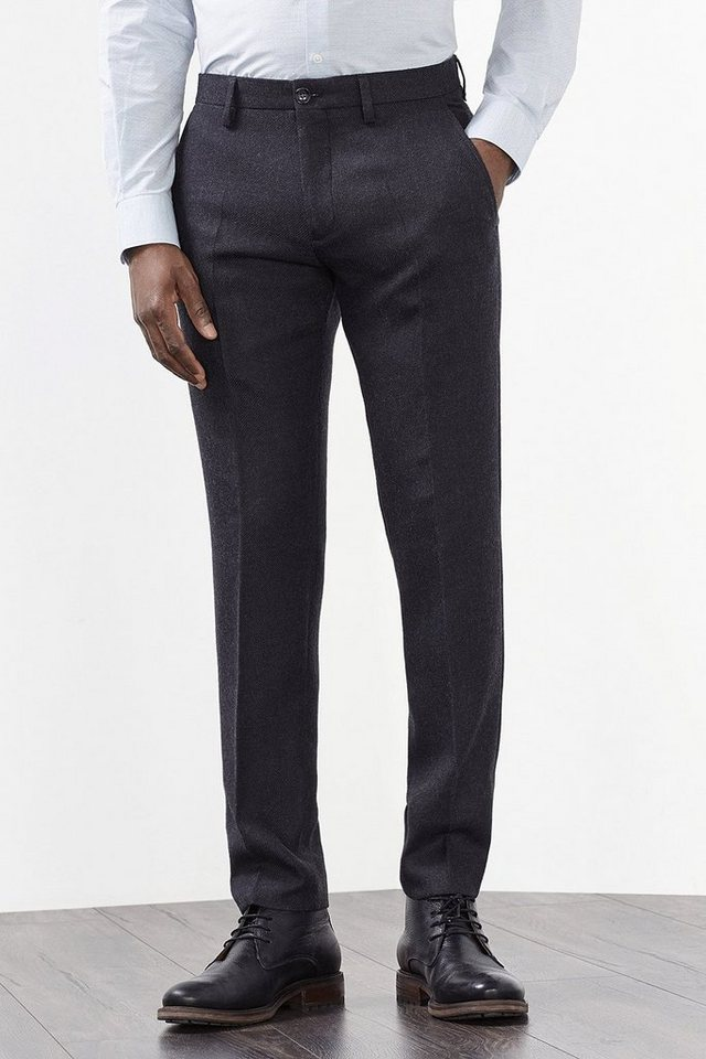 ESPRIT COLLECTION Chino aus Woll-Mix mit Taftfutter in ANTHRACITE