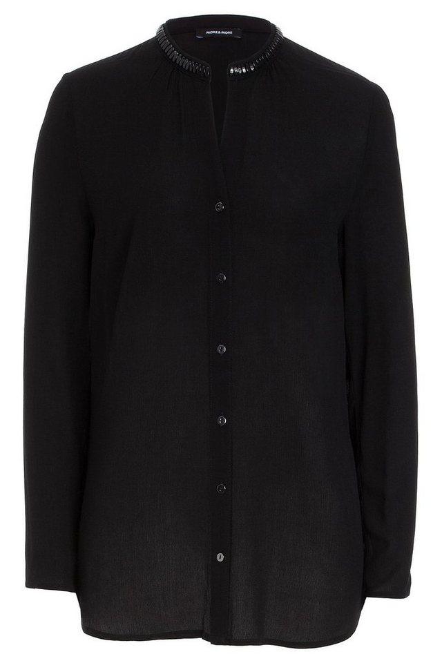 MORE&MORE lange Bluse, schwarz in schwarz