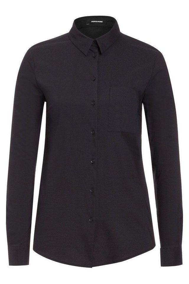 MORE&MORE Hemdbluse in schwarz