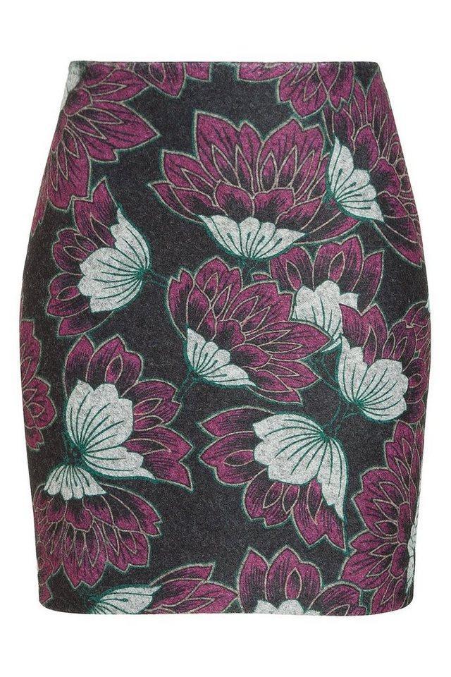 MORE&MORE Wollrock, Flower-Print in wie Farbmuster