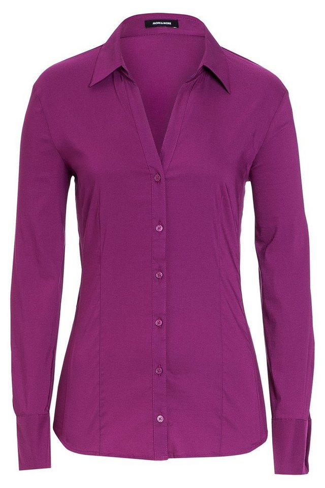 MORE&MORE Businessbluse, berry in rosa