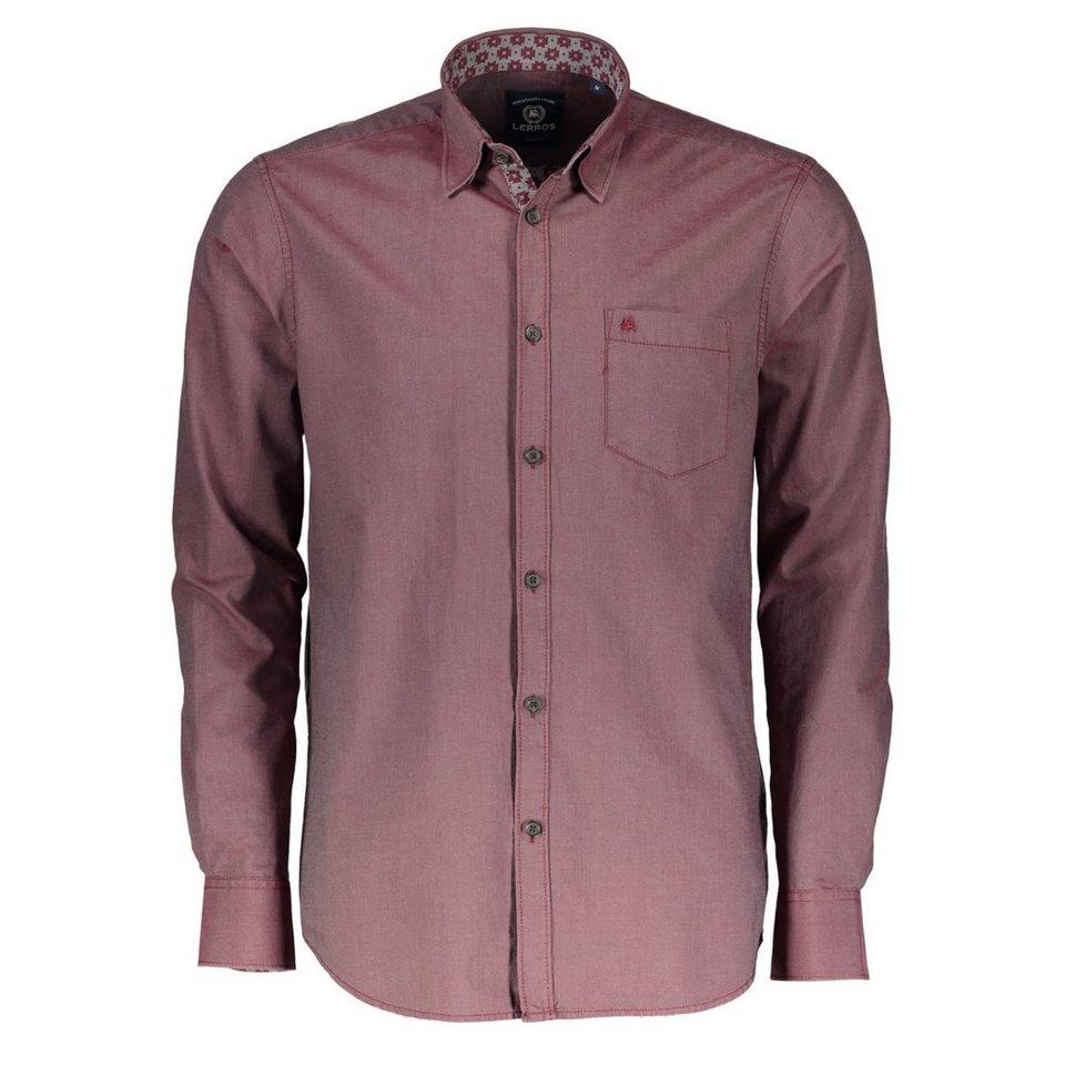 LERROS LERROS Hemd mit All-Over-Print in RED
