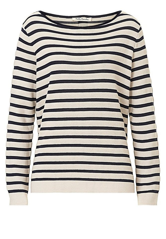 Betty Barclay Strickpullover in Beige/Dark Blue - Br