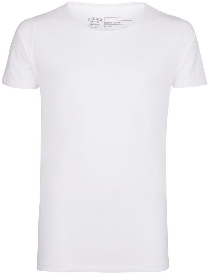 Petrol Industries 2er-Pack T-Shirts in bright white