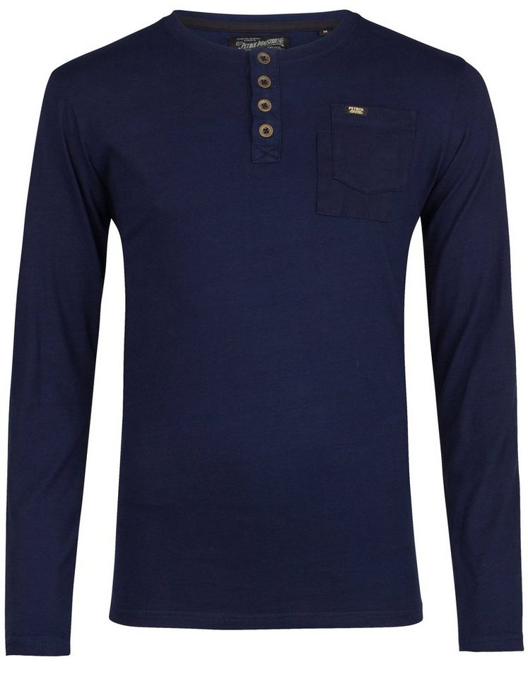 Petrol Industries Langarmshirt in dark indigo