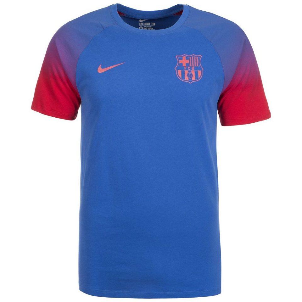 NIKE FC Barcelona Match T-Shirt Herren in blau / rot