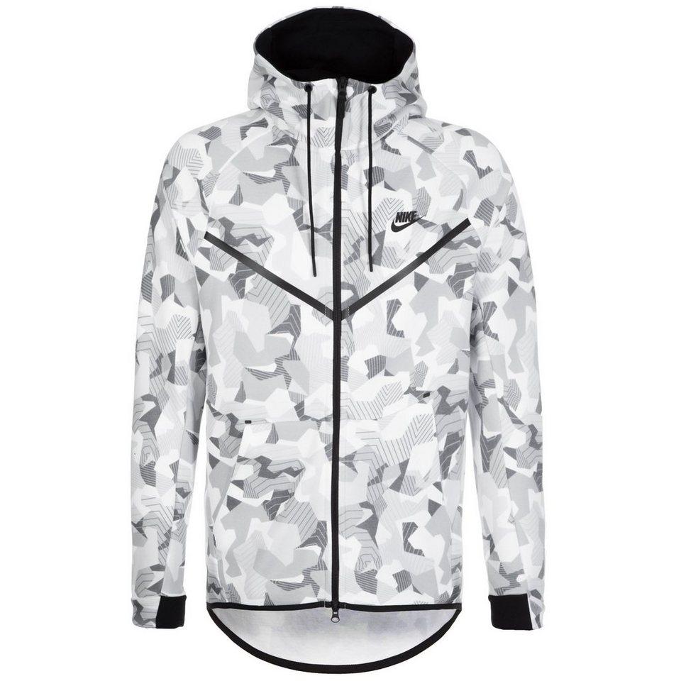 Nike Sportswear Tech Fleece Windrunner Kapuzenjacke Herren in weiß / schwarz