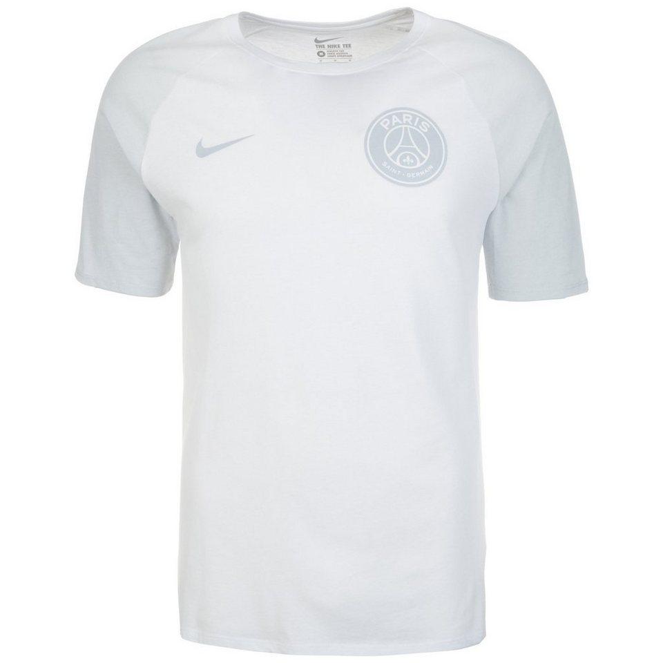 NIKE Paris Saint-Germain Match T-Shirt Herren in weiß / grau