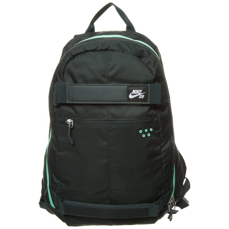 NIKE Embarca Medium Rucksack in dunkelgrün / mint