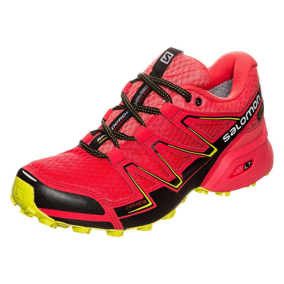 Salomon Speedcross Vario GTX Trail Laufschuh Damen in rot / gelb