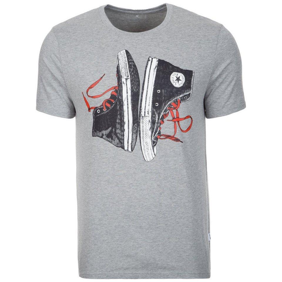 CONVERSE Chuck Illustration T-Shirt Herren in grau / schwarz / rot