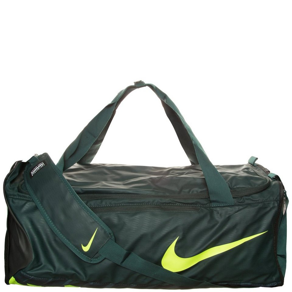 NIKE Alpha Adapt Cross Body Sporttasche Large in dunkelgrün / gelb