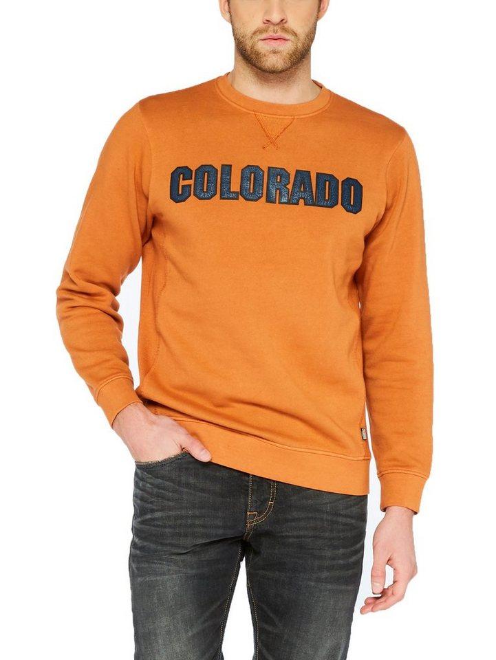 COLORADO DENIM Sweatshirt »Djego« in harvest pumpkin