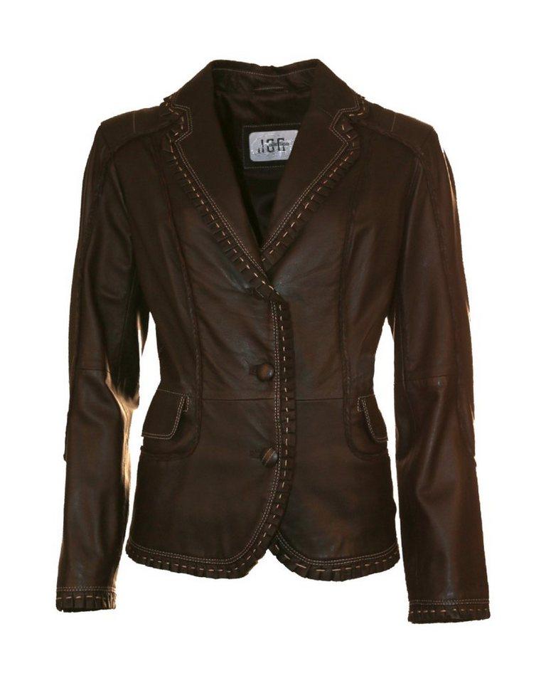 JCC Lederblazer, Damen 180010 in dark brown