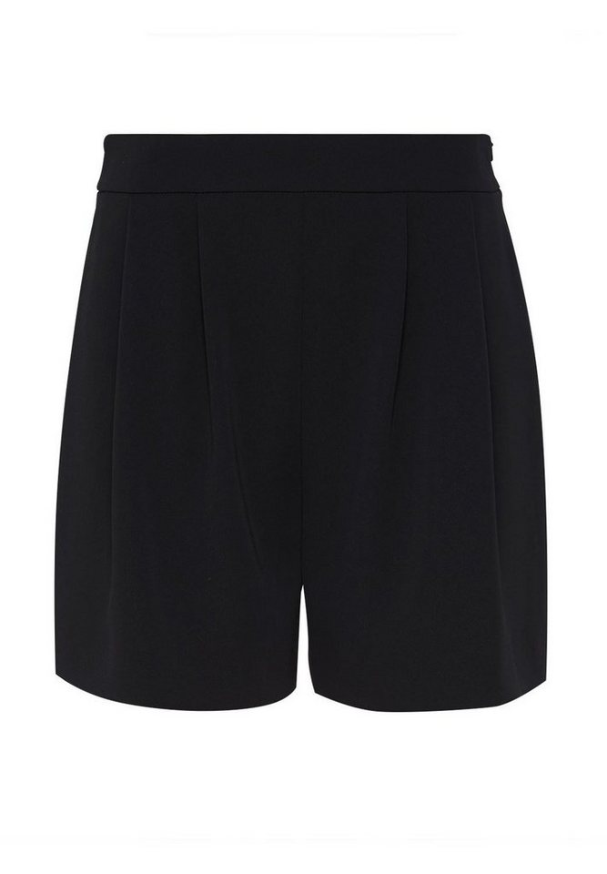 HALLHUBER Weit geschnittene Bundfalten-Shorts in schwarz