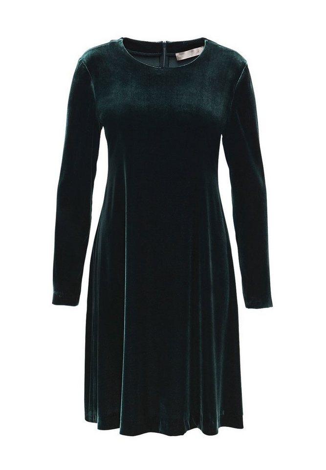 HALLHUBER Samtkleid in A-Linie in smaragd