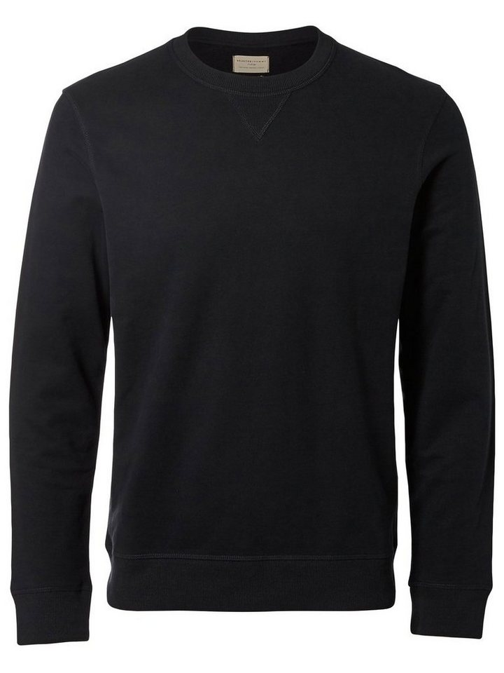 Selected Crew Neck- Sweatshirt in Black