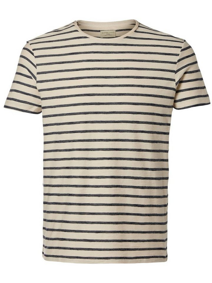 Selected Gestreiftes T-Shirt in Dark Sapphire