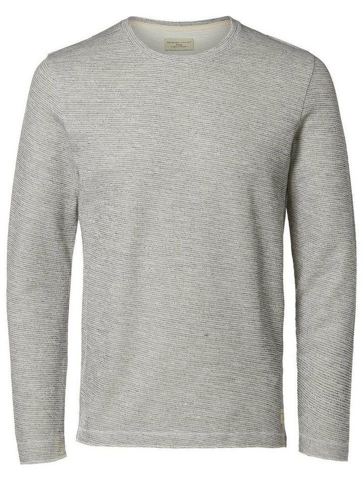 Selected Crew Neck- Sweatshirt in Egret