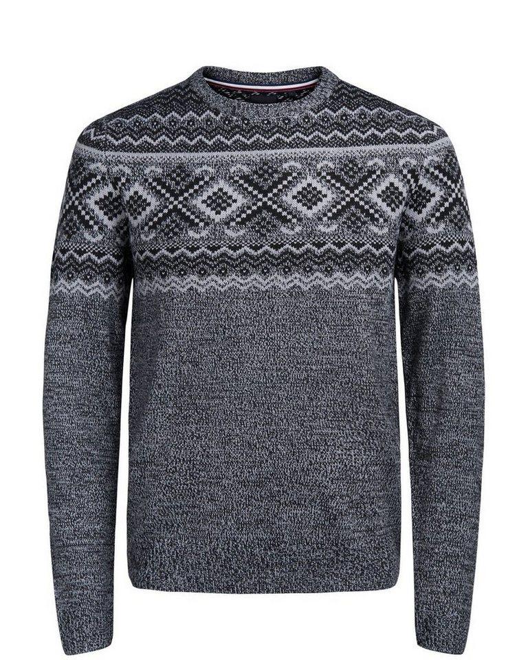 PRODUKT Winter- Strickpullover in Grey Melange