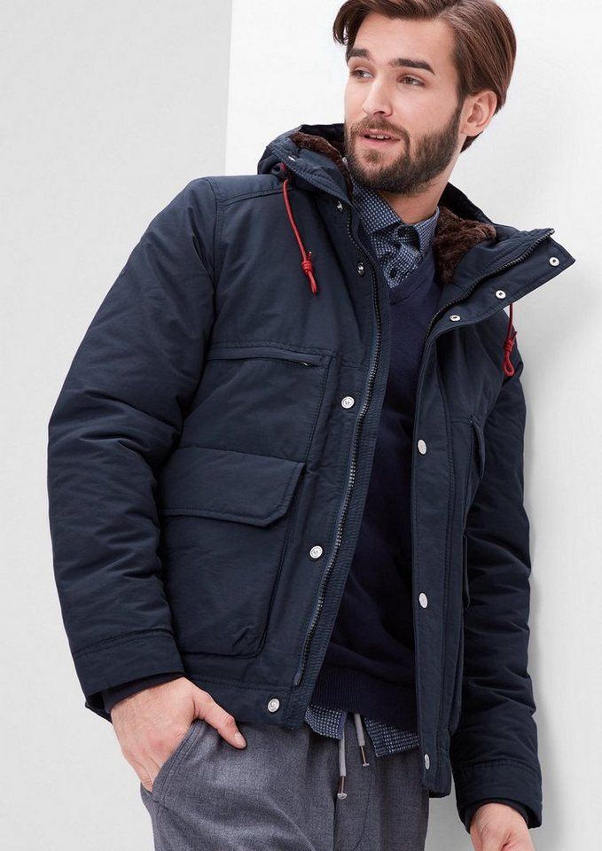 s.Oliver RED LABEL Langlebige Funktions-Winterjacke in blue