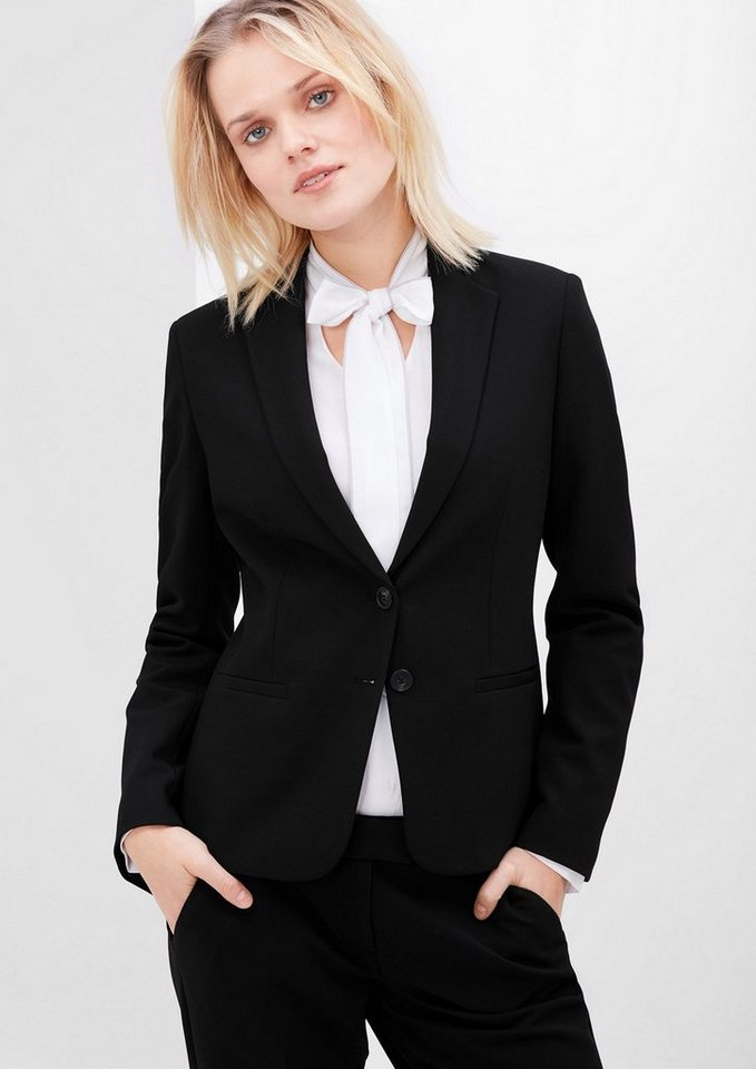 s.Oliver RED LABEL Stretch-Blazer im klassischen Look in black