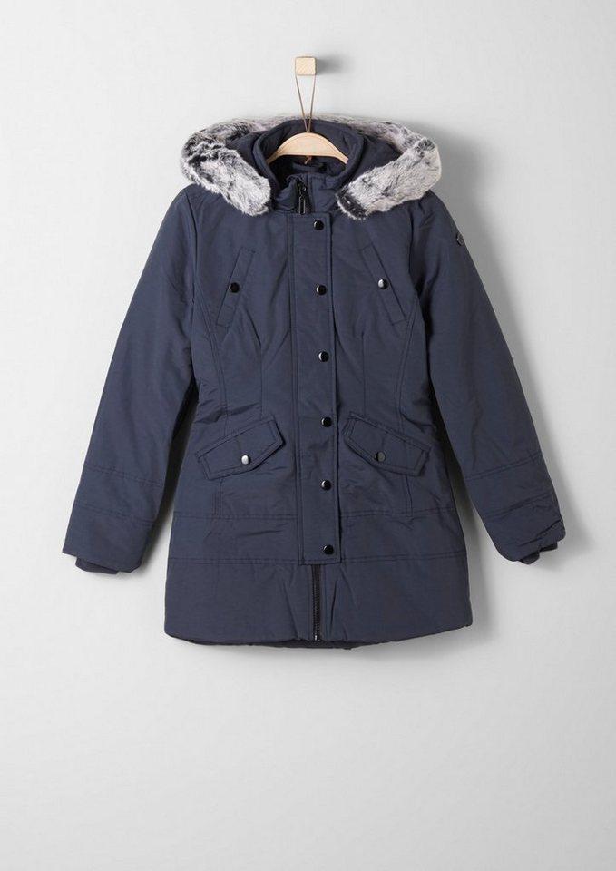 s.Oliver RED LABEL Junior Wintermantel mit Fake Fur für Mädchen in blue