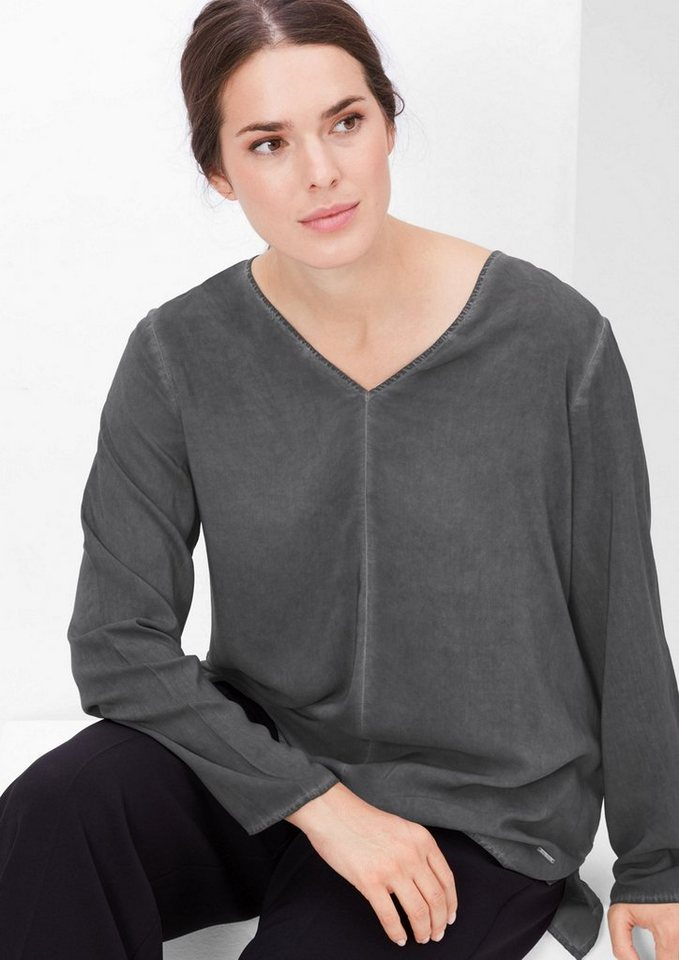 TRIANGLE Cold Pigment Dye-Bluse in black