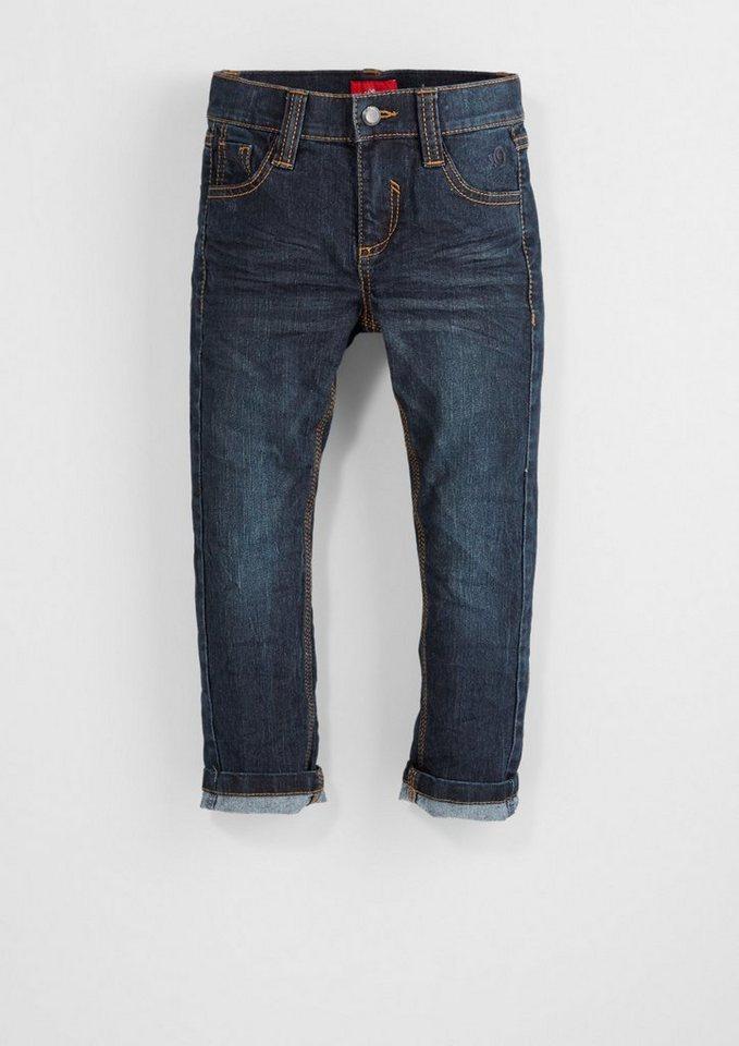 s.Oliver RED LABEL Junior Pelle Straight: Stretch-Jeans für Jungen in blue denim stretch