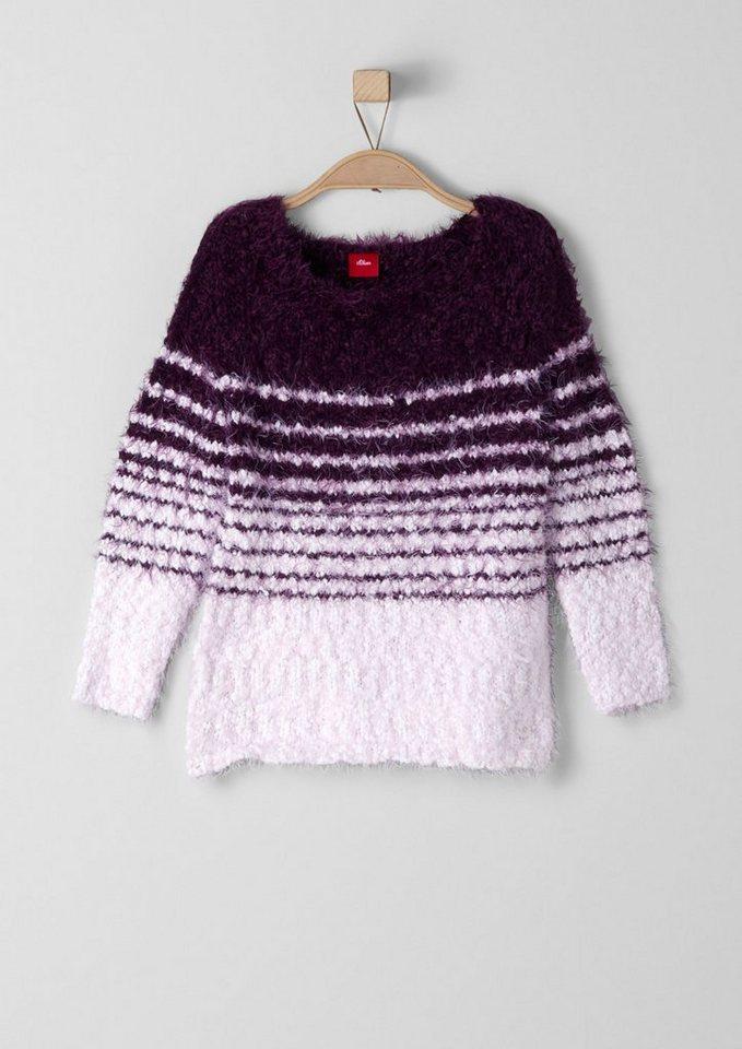 s.Oliver RED LABEL Junior Pullover aus Fancy-Garn für Mädchen in ecru knit