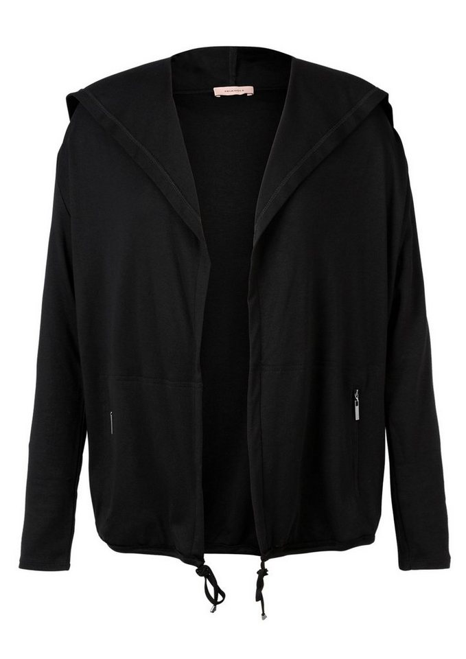 TRIANGLE Sweatjacke mit Kapuze in black
