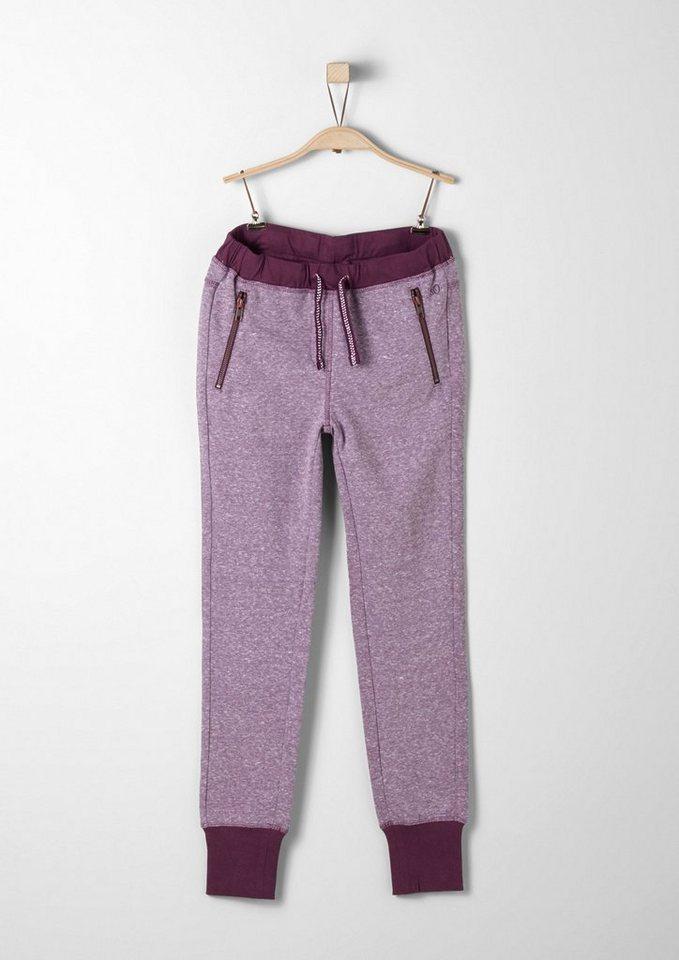 s.Oliver RED LABEL Junior Melierte Jogging Pants für Mädchen in dark pink melange