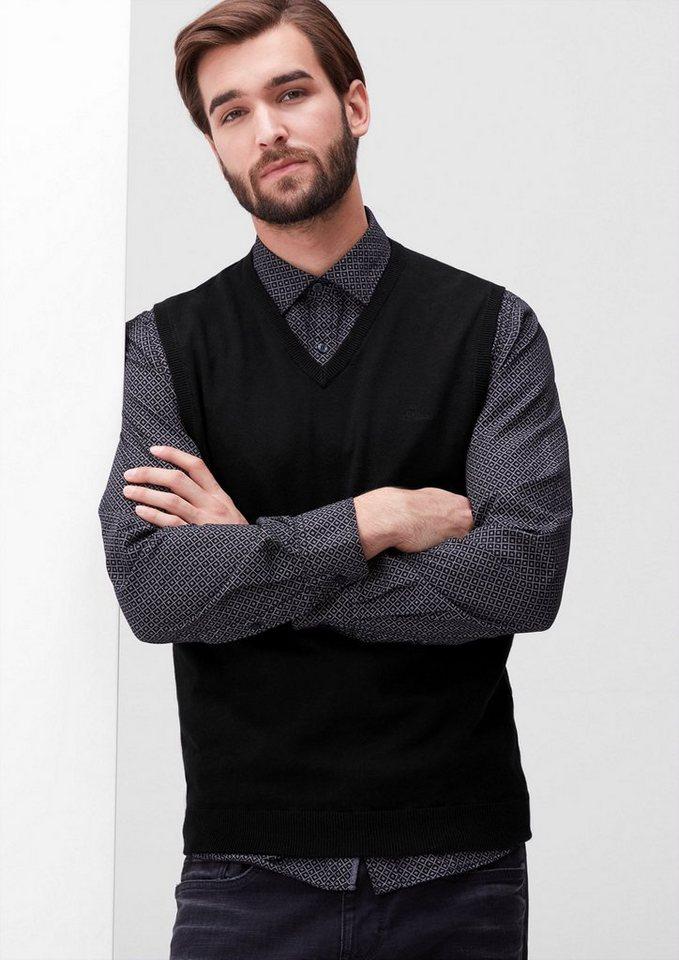 s.Oliver RED LABEL Pullunder mit V-Ausschnitt in black