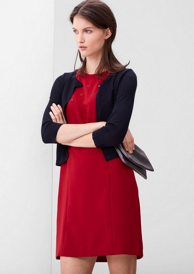 s.Oliver RED LABEL Feiner Bolero-Cardigan in navy