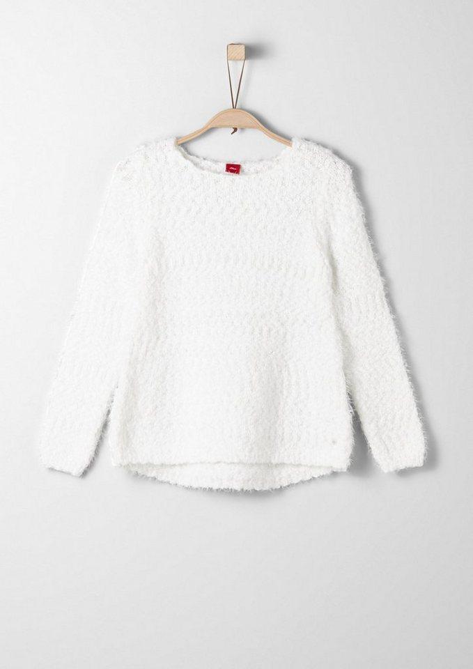s.Oliver RED LABEL Junior Pullover aus Fancy-Garn für Mädchen in ecru