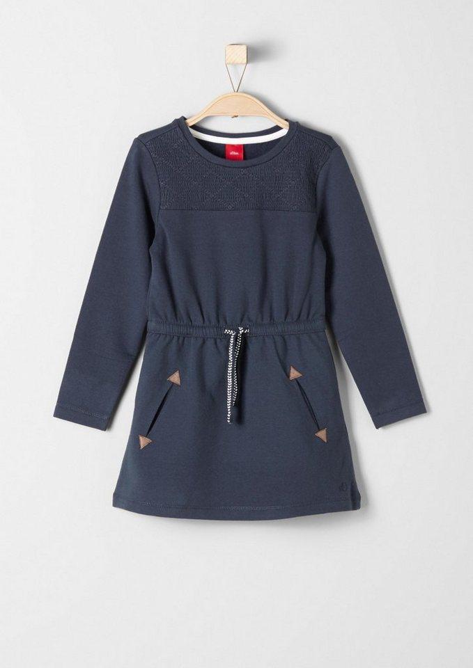 s.Oliver RED LABEL Junior Sweatkleid mit Taschen für Mädchen in dark blue