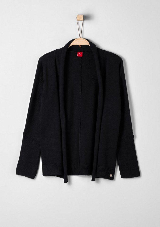s.Oliver RED LABEL Junior Schlichte Strickjacke für Mädchen in black