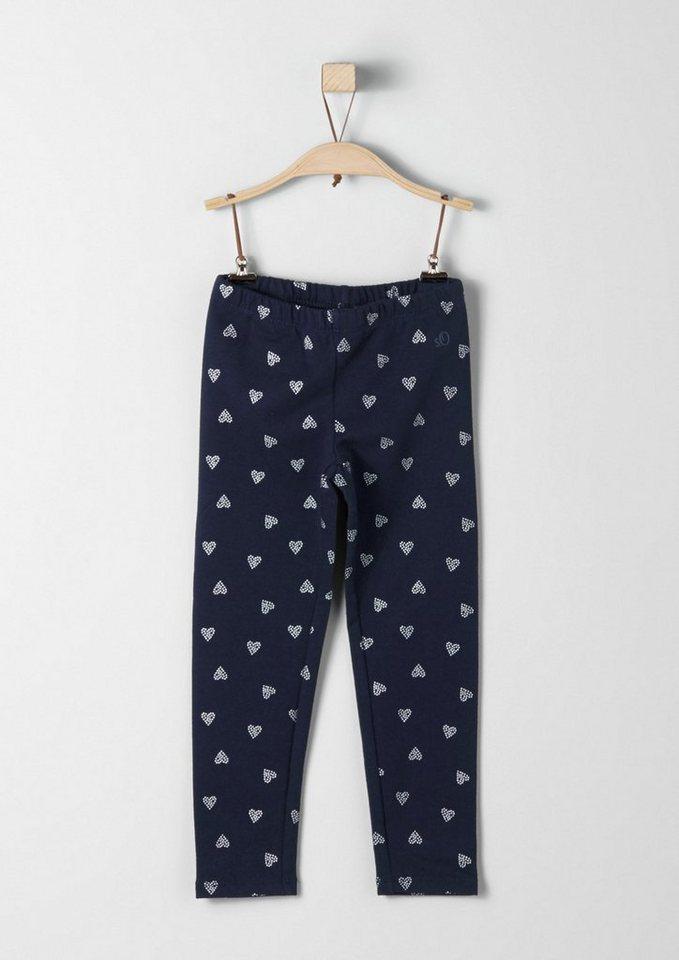 s.Oliver RED LABEL Junior Leggings mit Allover-Muster für Mädchen in dark blue AOP