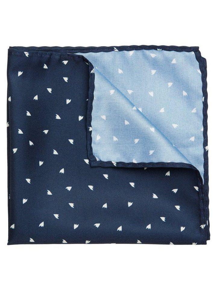 Jack & Jones Gemustertes Seiden- Taschentuch in Navy Blazer