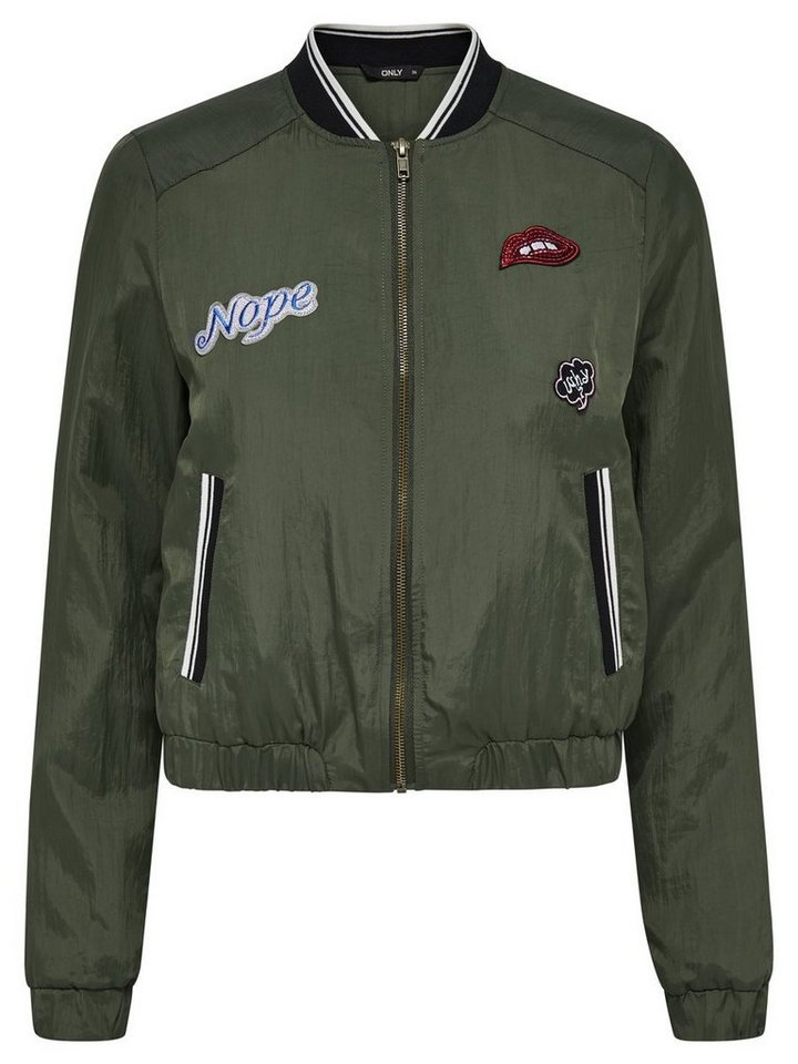 Only Bomber- Jacke in Tarmac