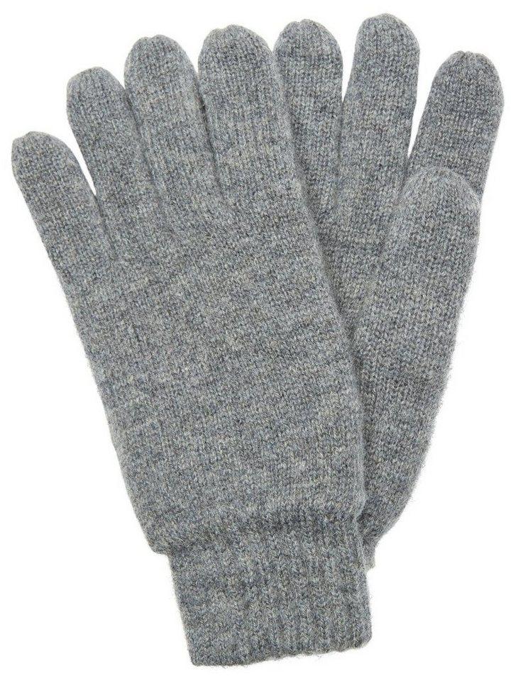 Selected Woll- Handschuhe in Medium Grey Melange
