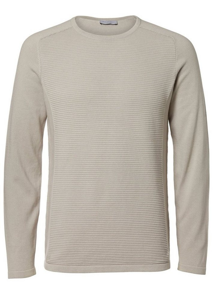 Selected Crew-Neck- Strickpullover in Gray Violet