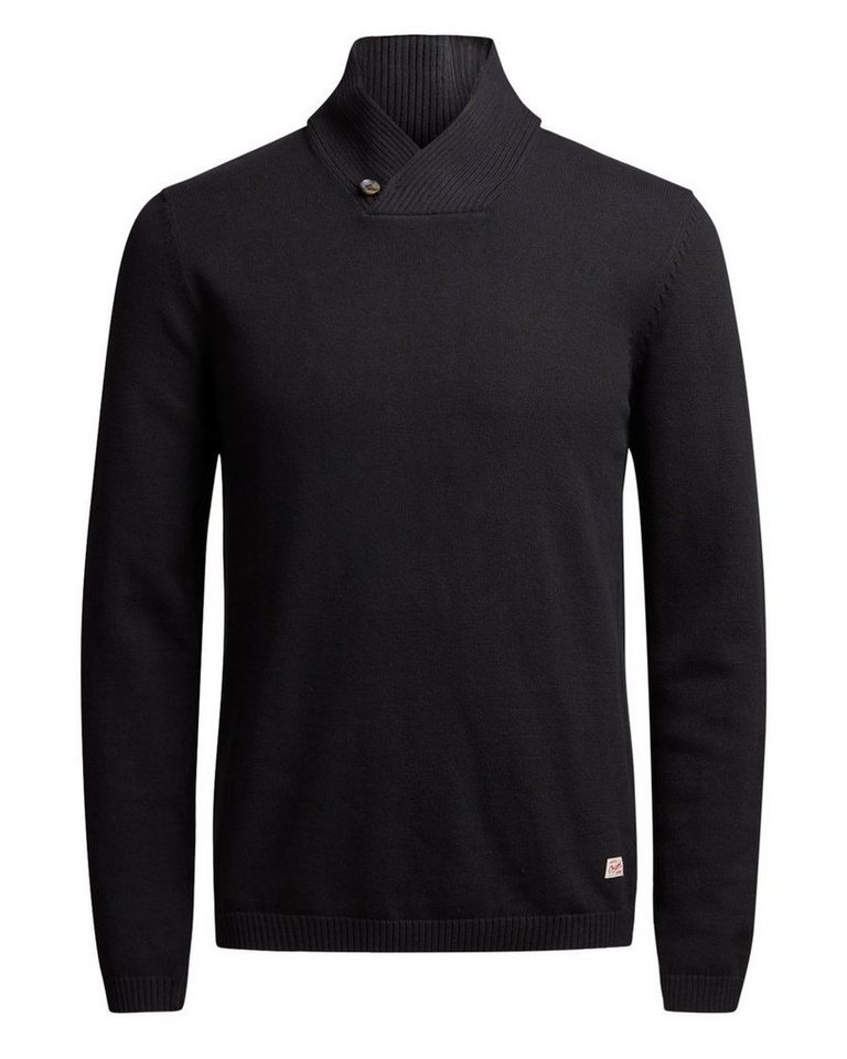 Jack & Jones Schalkragen- Strickpullover in Black
