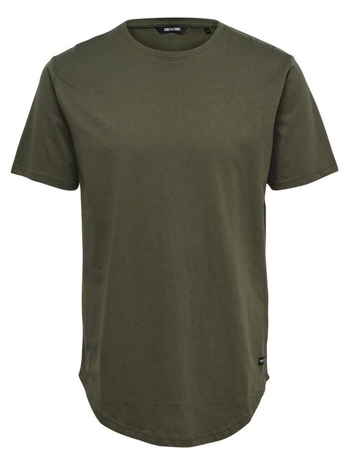 ONLY & SONS Langes T-Shirt in Olive Night